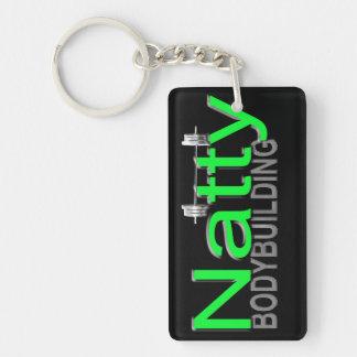 Natty Bodybuilding Double-Sided Rectangular Acrylic Key Ring