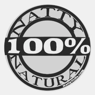 Natty Natural Round Sticker