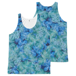 Natural All-Over Print Singlet