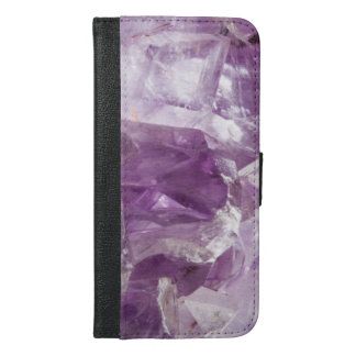 Natural Amethyst design iPhone 6/6s Plus Wallet Case