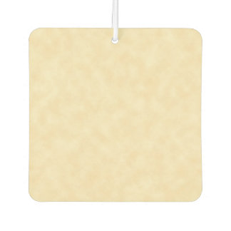 Natural Antique Parchment Paper Look Car Air Freshener