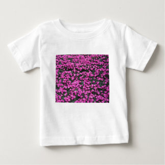Natural background of purple carnation flowers baby T-Shirt