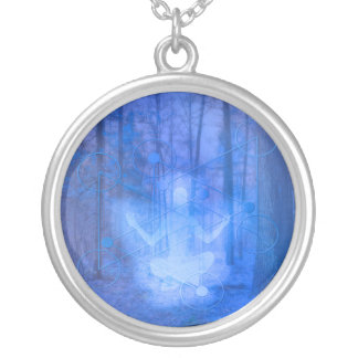 Natural Balance (blue) Silver Plated Necklace