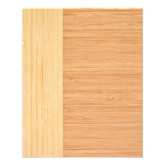 Natural Bamboo Border Wood Grain Look 11.5 Cm X 14 Cm Flyer