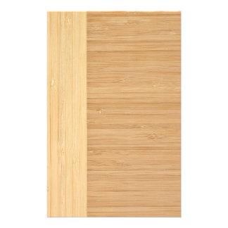 Natural Bamboo Border Wood Grain Look 14 Cm X 21.5 Cm Flyer