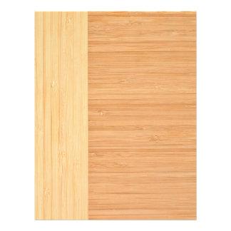 Natural Bamboo Border Wood Grain Look 21.5 Cm X 28 Cm Flyer