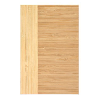 Natural Bamboo Border Wood Grain Look 14 Cm X 21.5 Cm Flyer