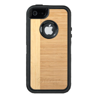 Natural Bamboo Border Wood Grain Look OtterBox iPhone 5/5s/SE Case