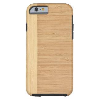 Natural Bamboo Border Wood Grain Look Tough iPhone 6 Case