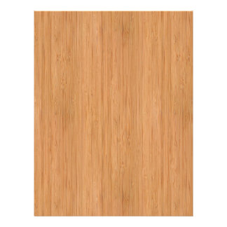 Natural Bamboo Wood Grain Look 21.5 Cm X 28 Cm Flyer