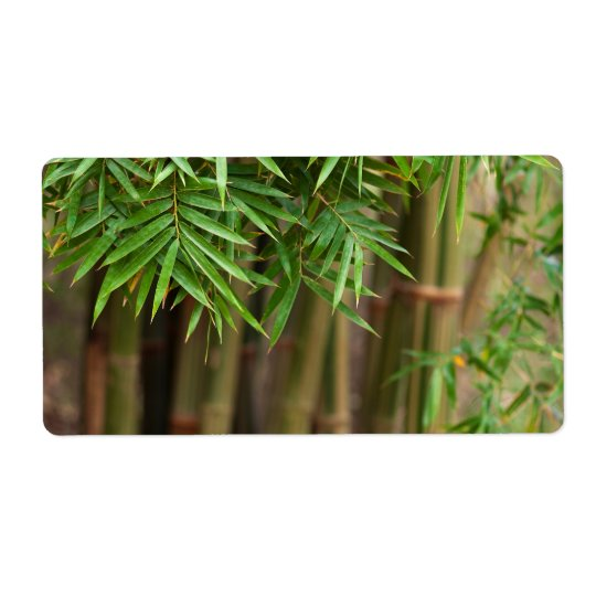 Natural Bamboo Zen Background Customised Template Shipping Label