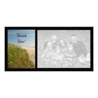 Natural Beach Thank You Customized Photo Card