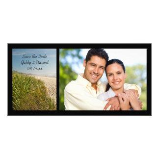 Natural Beach Wedding Save the Date Photo Card