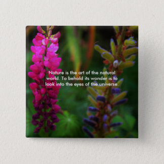 Natural Beauty 15 Cm Square Badge