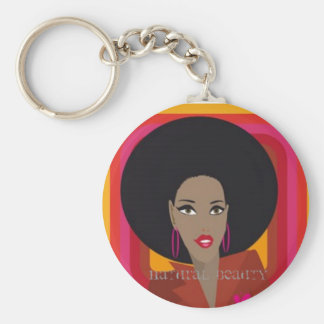 Natural Beauty Basic Round Button Key Ring