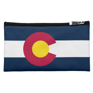 Natural Beauty Colorado State Flag Cosmetics Bags