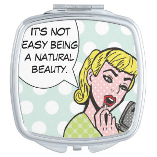 Natural Beauty Comic Book Compact Mirror