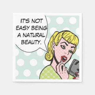 Natural Beauty Comic Book Napkins Disposable Napkin