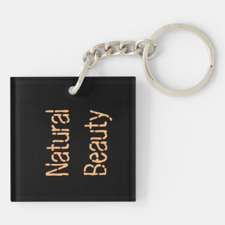 Natural beauty Double-Sided square acrylic key ring