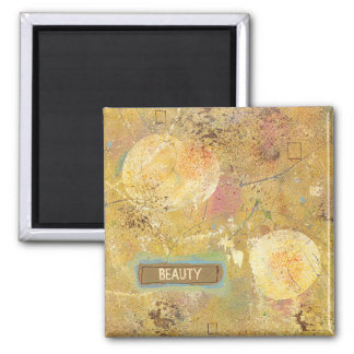 Natural beauty fun abstract art unique painting refrigerator magnets