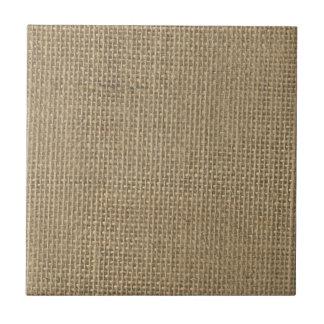 Natural Beige Burlap Ceramic Tile
