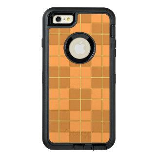 Natural beiges tiles vector design in squares OtterBox iPhone 6/6s plus case