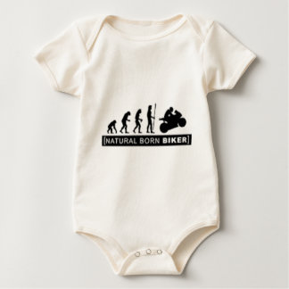 Natural born biker baby bodysuit