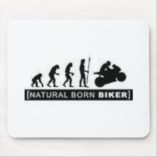 Natural born biker mouse pad