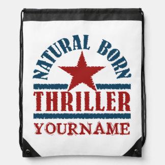 Natural Born Thriller custom bag Drawstring Bag
