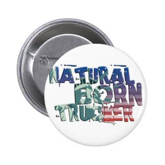 natural born trucker usa flag trucker anstecknadelbutton