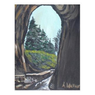 Natural Bridge Painting by Aisha Waller Postcard