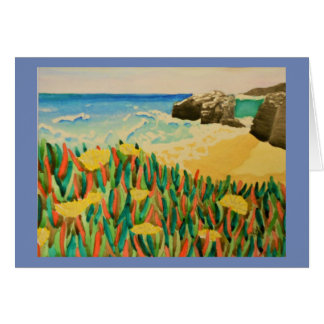 Natural Bridges California Coast Watercolor Card