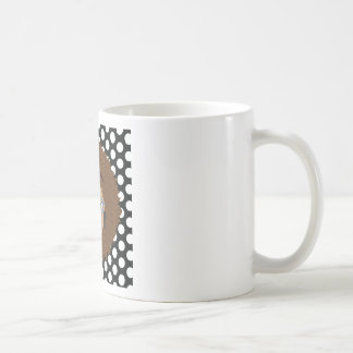 Natural Brown Hair Glam Dot Print Coffee Mug