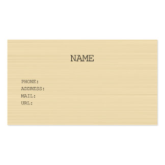 NATURAL businesscard Pack Of Standard Business Cards