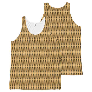 Natural cane wicker All-Over print singlet