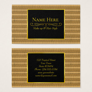 Natural cane wicker business card
