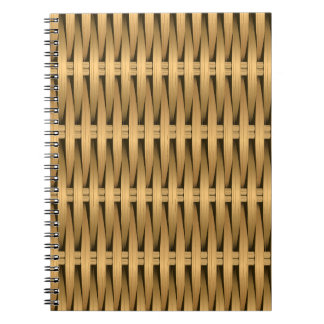 Natural cane wicker notebook
