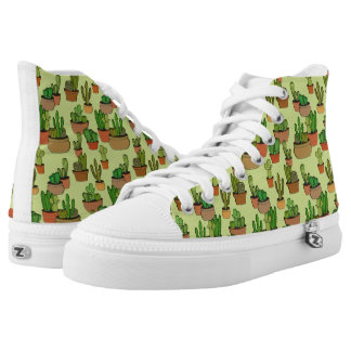 Natural Cartoon Potted Cacti High Tops