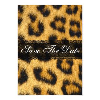 Natural Cheetah Print Save The Date Notice Card