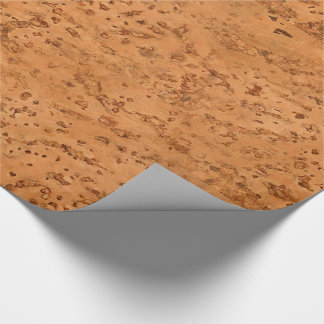 Natural Cork Look Wood Grain Wrapping Paper