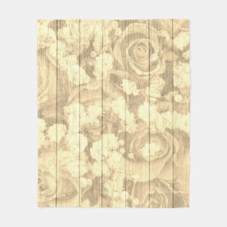 Natural Country chic design Fleece Blanket