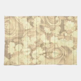 Natural Country Chic Roses Tea Towel