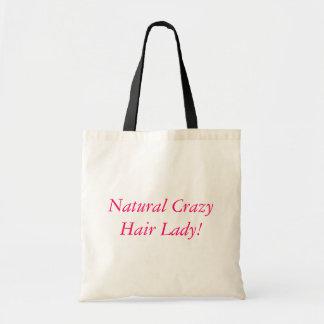 Natural Crazy Hair Lady! Canvas Bag