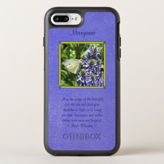 Natural Dainty Butterfly Moth With Irish Blessing OtterBox Symmetry iPhone 8 Plus/7 Plus Case