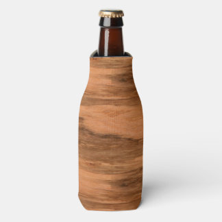 Natural Eucalyptus Wood Grain Look Bottle Cooler