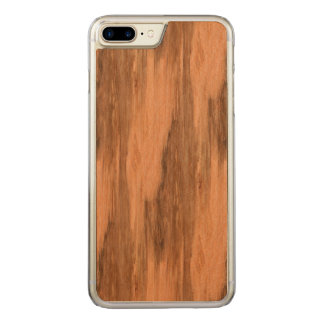 Natural Eucalyptus Wood Grain Look Carved iPhone 7 Plus Case