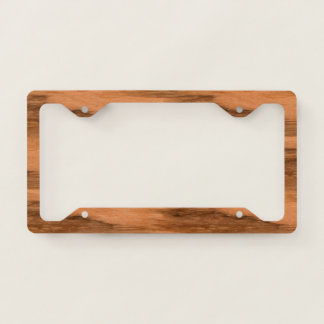Natural Eucalyptus Wood Grain Look Licence Plate Frame
