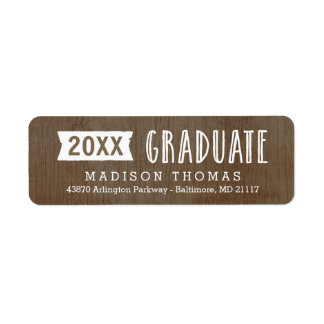 Natural Grad Graduation Address Label