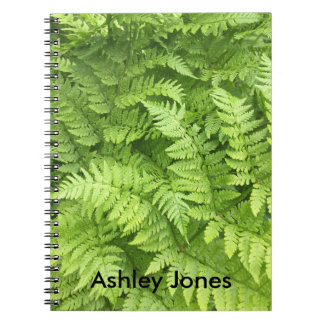 Natural Green Fern in Rainforest Notebook