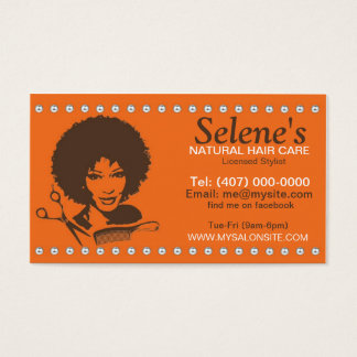 Natural Hair African American Salon Business Card